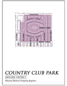 Country Club Park Historic District Map In Phoenix Arizona