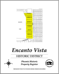 Encanto Vista Historic District Map Phoenix Arizona
