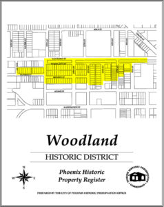 Woodland Historic District Map Downtown Phoenix AZ