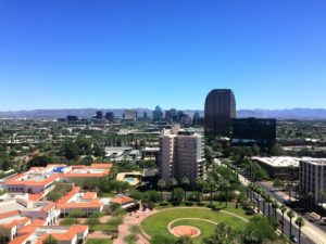 View from a condo at Regency on Central Luxury historic highrise