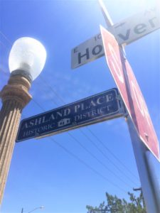 Street Sign of Ashland Place Historic District at Regency on Central Luxury historic condos