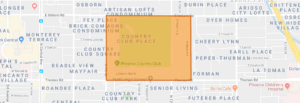 Country Club Manor Historic District Map
