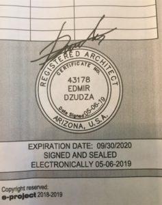 Registered Architect Stamp Phoenix Real Estate
